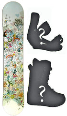 130cm Sims Glitter blem Rocker Snowboard, Build a Package with Boots and Bindings