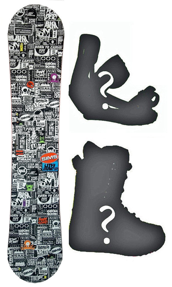 138cm Sims Lithium Rocker Snowboard, Build a Package with Boots and Bindings