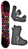 140cm Sionyx Hearts Rocker Snowboard, Build a Package with Boots and Bindings.