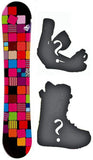144cm Sionyx Quilt Women's Girl's Snowboard, Build a Package with Boots and Bindings
