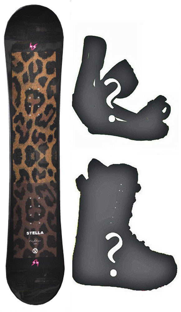 140-144cm Stella Confidence Womens's Girl's Snowboard, Build a Package with Boots and Bindings.