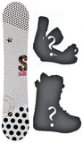 140cm Stella Queen White Womens's Girl's *Blem* Snowboard, Build a Package with Boots and Bindings.