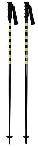 Swix Convict Freeride Aluminum Ski Skiing Pole with Tab Grip, Yellow-Black 130-135cm