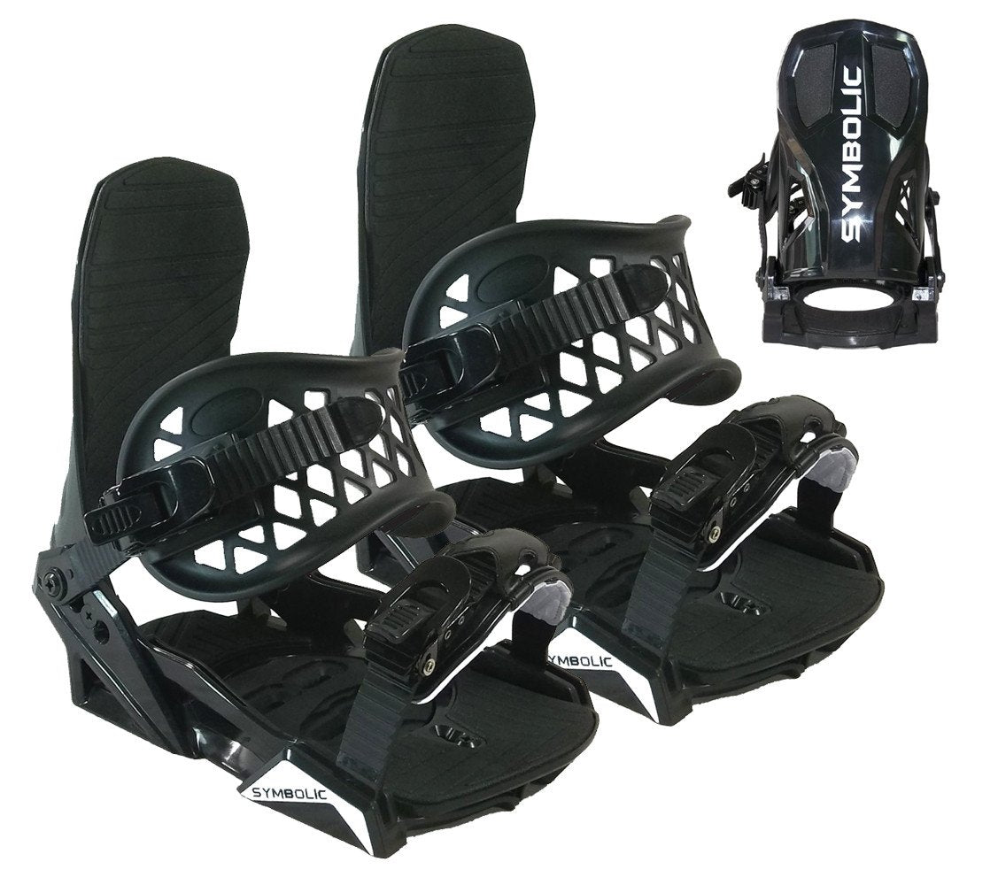 Symbolic Flow-Ride Snowboard Bindings 4x4 or Burton 3d Small Medium 5-8.5