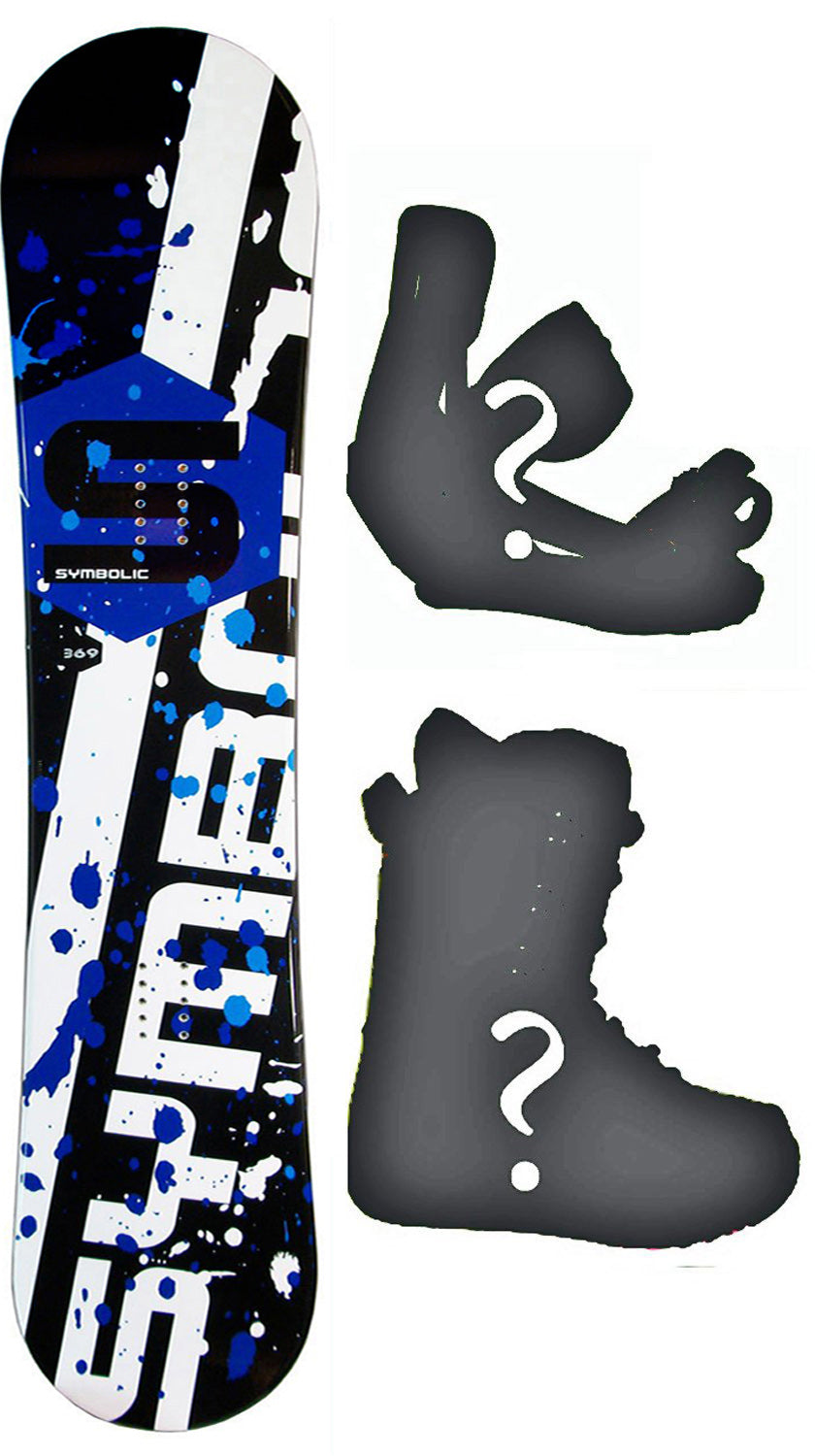 158cm 160cm 163cm Wide Symbolic 369 Rocker Mens Board or Build a Snowboard Package with Boots and Bindings