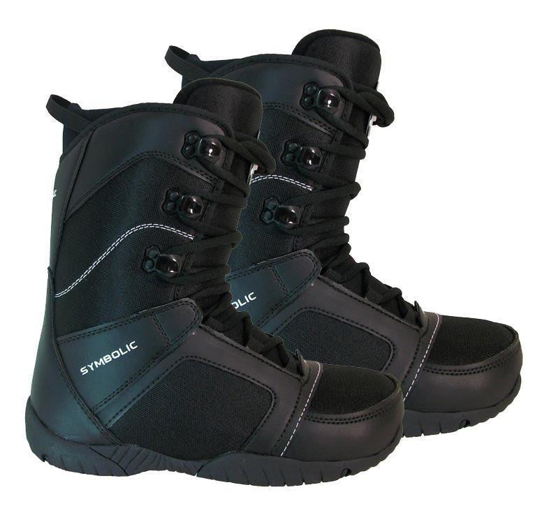 Symbolic Ultra Light Kids Black Snowboard Boots Size 6 - 6.5 Junior