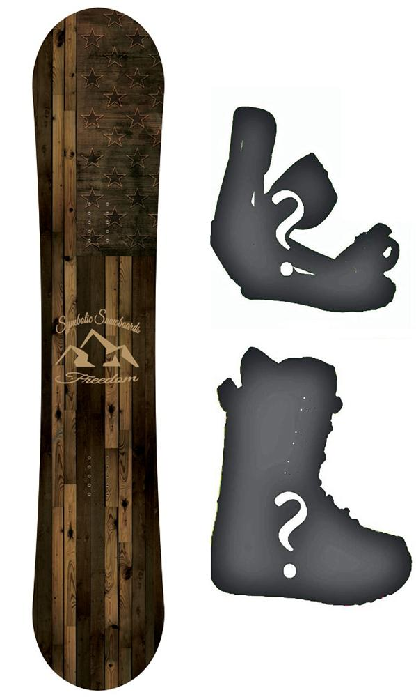 Symbolic Freedom USA 2020 Snowboard or Build a Complete Package Reg or Wide All Sizes