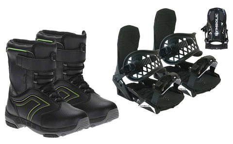 Symbolic Grom Snowboard Boots & Bindings Package Deal 12c,13c,1,2,3,4,5,6 kids youth