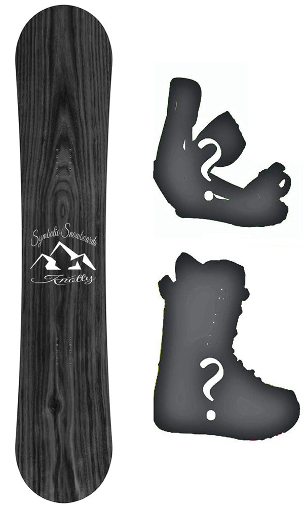 Symbolic Knotty Wood Grain 2020 Snowboard or Build a Complete Package Reg or Wide All Sizes