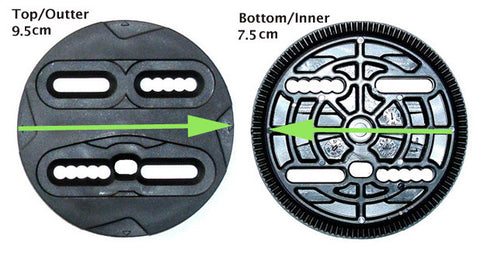 Replacement Discs for Most Small-Medium Snowboard Bindings 7.5 inner -9.5 cm outer
