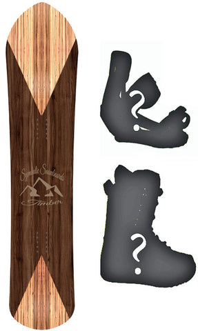 143cm Symbolic Timber Wood Grain 2020 Powder Fish POW  Wide Snowboard