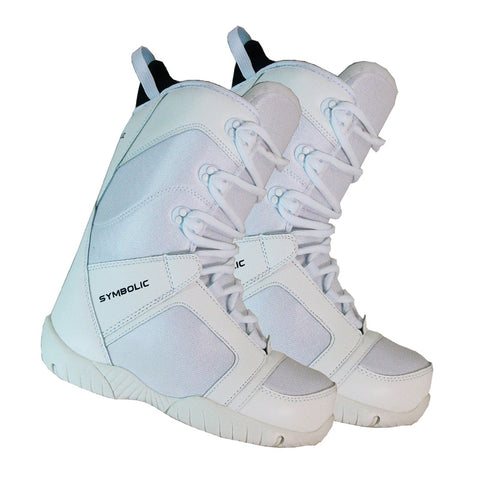 Symbolic White-Ultra Light Womens Snowboard Blem Boots Size 6 7 8 9 10