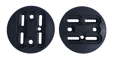 EST CHANNEL ,3D , 4X4 REPLACEMENT DISCS FOR MOST SMALL-MEDIUM SNOWBOARD BINDINGS 7.5 INNER -9.5 CM OUTER