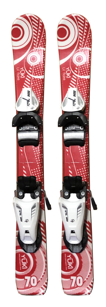 70cm Yuki Jr. Blem Skis With Tyrolia SX 4.5 Bindings Installed.(fit 221-241mm)