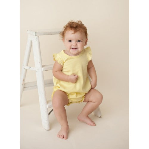 Yellow Bubble Romper - Sunfire Creative Baby Boutique
