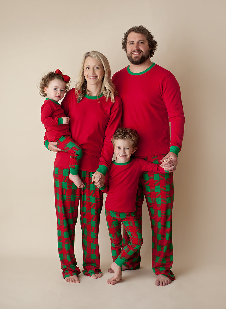 Christmas Pajamas 2019 Red & Green Plaid Christmas Pajamas   PREORDER ships November 1