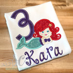 Mermaid Birthday Shirt - Sunfire Creative Baby Boutique