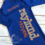 Royal Blue & Orange Coming Home Outfit - Sunfire Creative Baby Boutique
