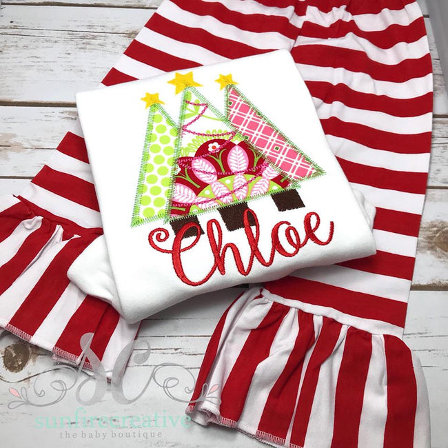 Christmas Tree trio Shirt - Sunfire Creative Baby Boutique