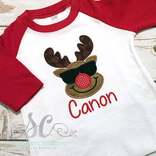 Boys Cool Reindeer Shirt