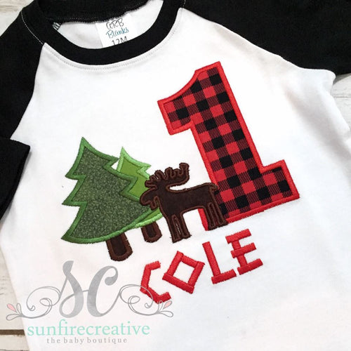 Lumberjack Birthday Boy Shirt