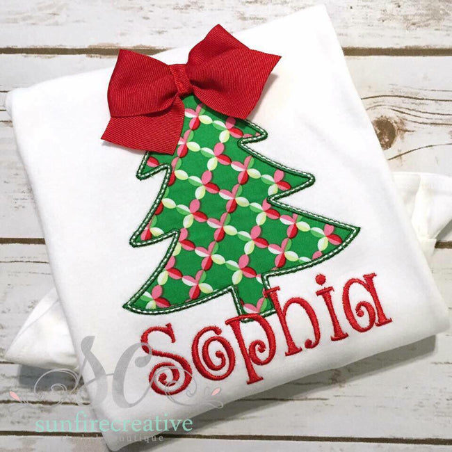 Christmas tree with Bow Topper Shirt