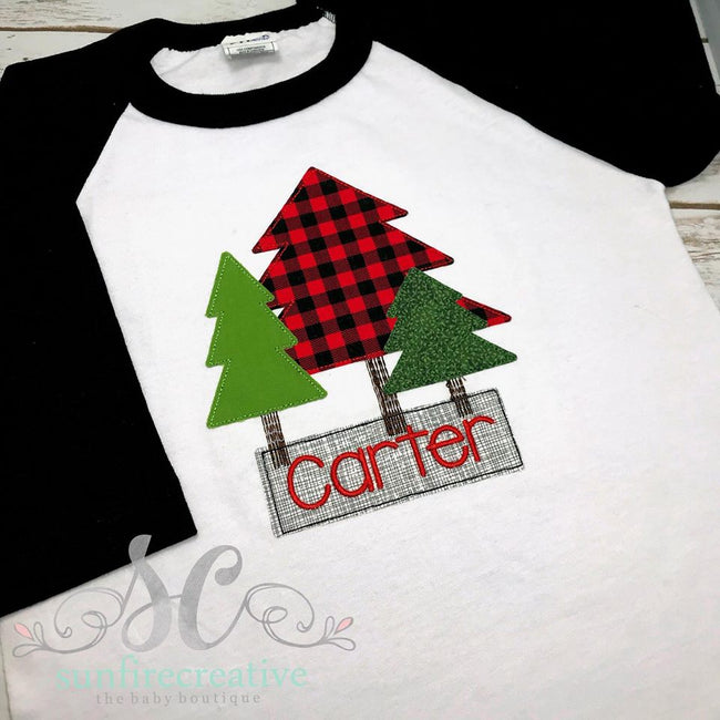 Boy Christmas Tree Shirt - Sunfire Creative Baby Boutique