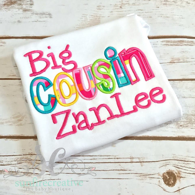 Personalized Big Cousin Shirt