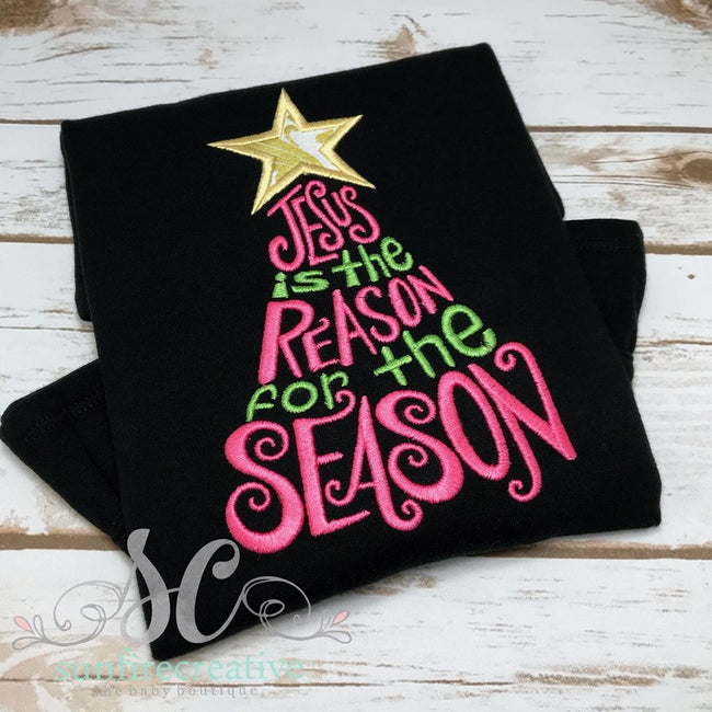 Girls Chirstmas Shirt - Jesus is the Reason for the Season Shirt