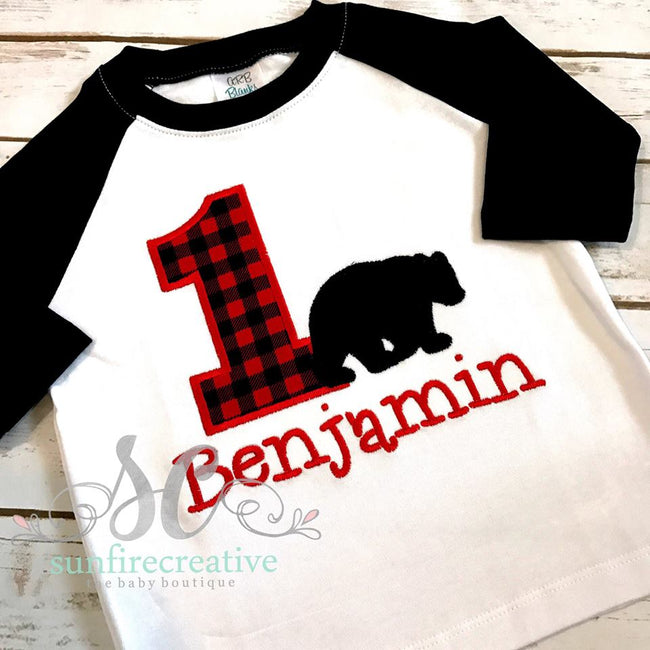 Bear Birthday Shirt - Woodland Birthday Shirt - Sunfire Creative Baby Boutique