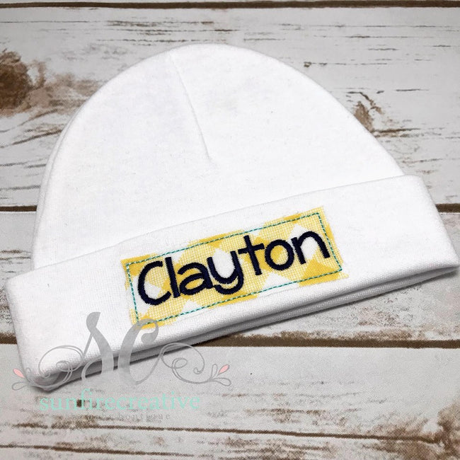 Personalized Baby Hat - Baby Shower Gift - Sunfire Creative Baby Boutique