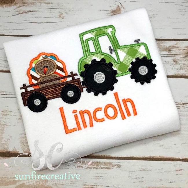 Boys Thanksgiving Shirt - Turkey Tractor Shirt