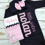 Little Sister Outfit - Pregnancy Announcement - Sibling Outfit - Sunfire Creative Baby Boutique