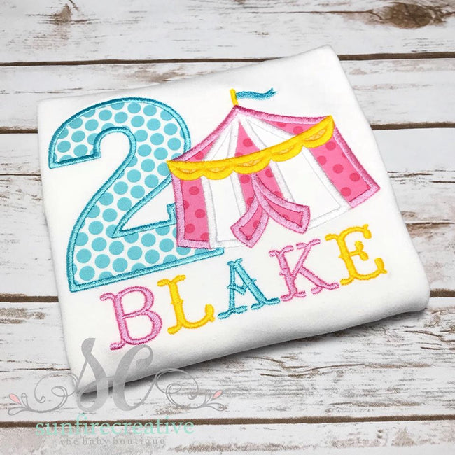 Circus Birthday Shirt - Personalized Birthday Shirt