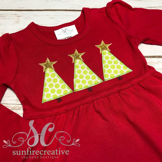 Girls Christmas Dress - Christmas Outfit - Red Christmas Dress