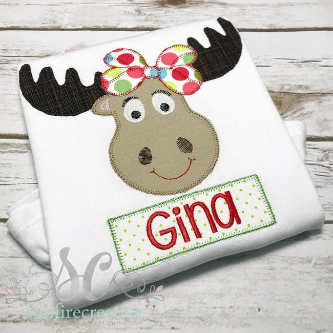 Girl's Moose Shirt - Sibling Outfit - Moose Shirt