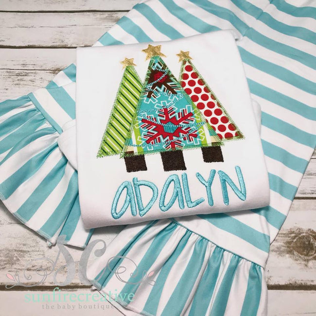Girls Christmas tree Christmas Outfit - Personalized Christmas Outfit