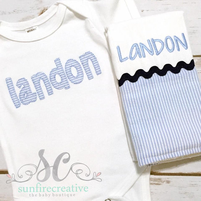 Baby Boy Personalized Onesie - Baby Shower Gift
