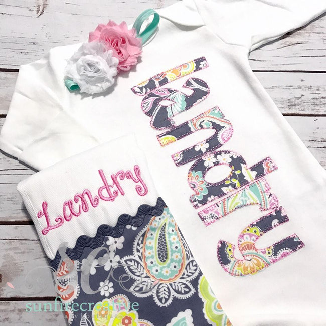 Girls Coming Home Outfit - Personalized Baby Gown - Baby Shower Gift