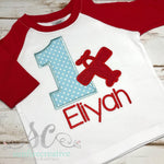 Boy's Birthday Shirt - First Birthday Shirt - Airplane Birthday Shirt - Sunfire Creative Baby Boutique