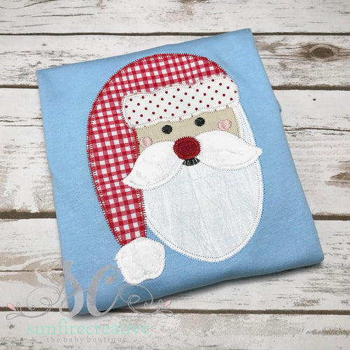 Boys Santa Shirt - Christmas Shirt for Boys - Holiday Shirt