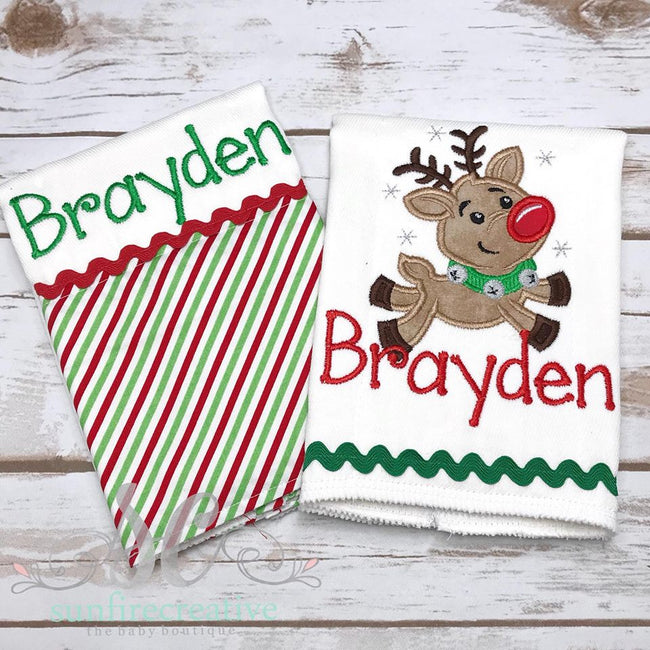 Personalized Burp cloth - Baby Shower Gift - Sunfire Creative Baby Boutique