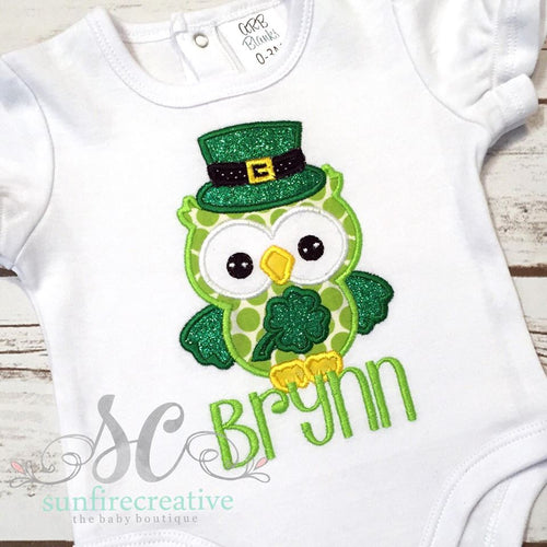 St Patrick's Day Outfit - St Patricks Day Owl