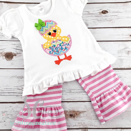 Girls Easter Outfit - Chick Easter Shirt