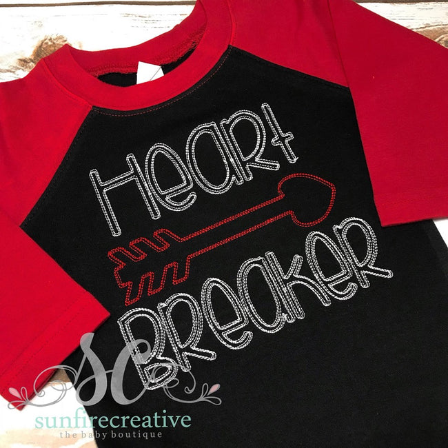 Boy's Valentine Shirt - Heart Breaker Shirt - Sunfire Creative Baby Boutique