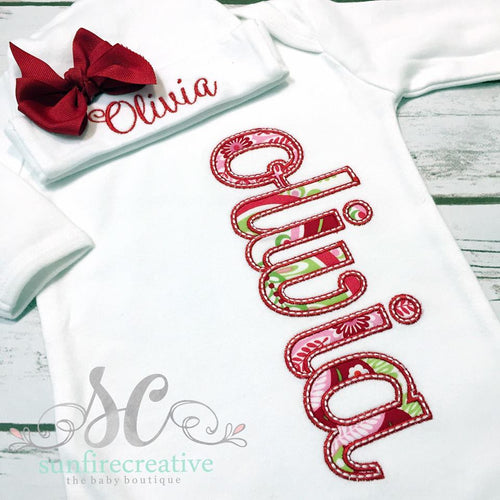 Baby Girl Coming Home Outfit - Personalized Baby Gown