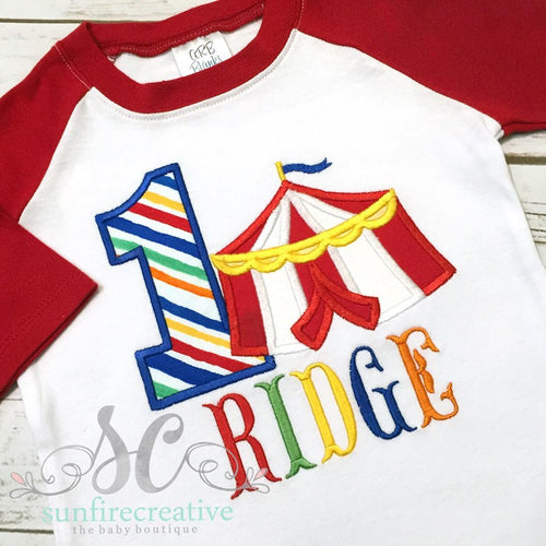 Carnival Birthday Shirt - Circus Tent Birthday Shirt