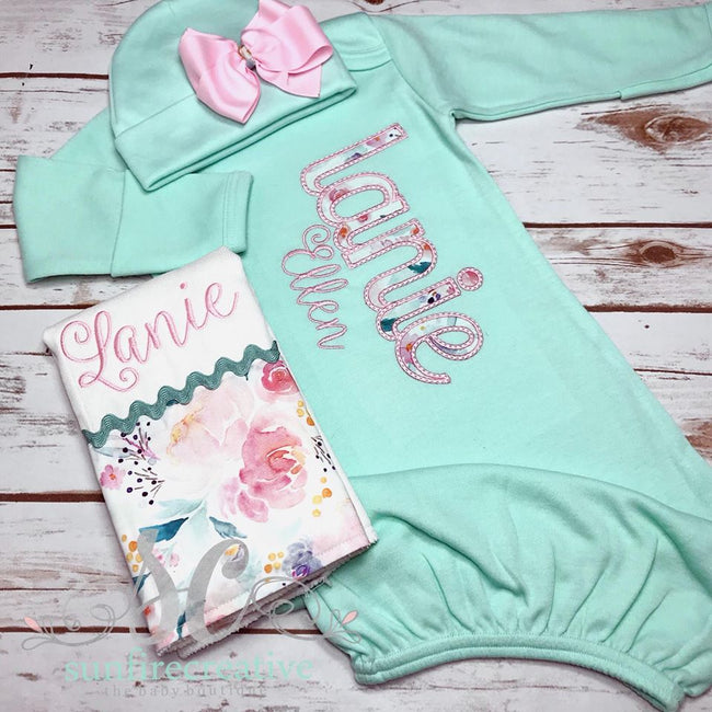 Girl's Coming Home Outfit - Baby Shower Gift - Sunfire Creative Baby Boutique