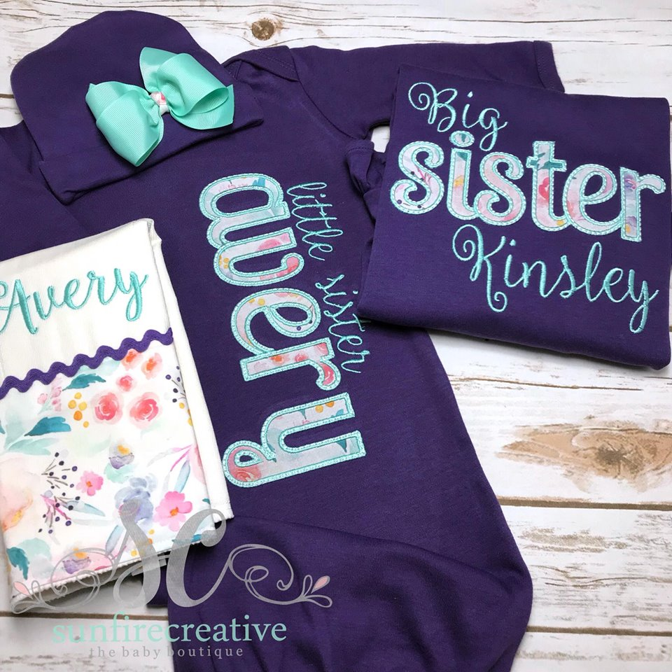 1222d28b2468 Baby Coming Home Outfit - Sibling Set - Sunfire Creative Baby Boutique