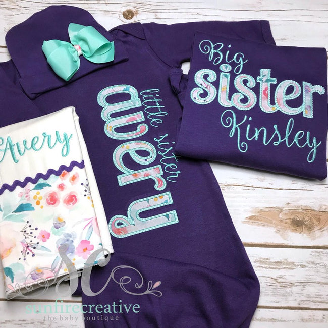 Baby Coming Home Outfit - Sibling Set - Sunfire Creative Baby Boutique